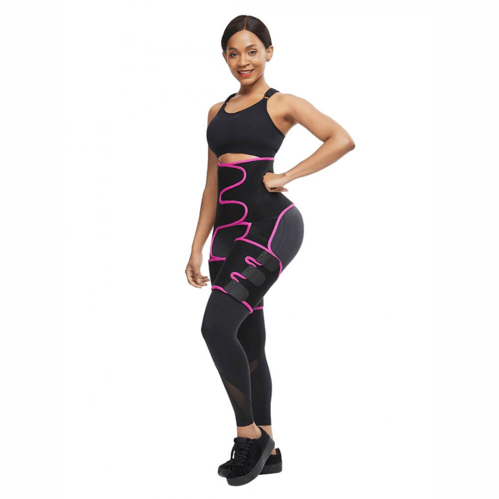 High Waist Neoprene Thigh Trimmer and Butt Lifter Pink