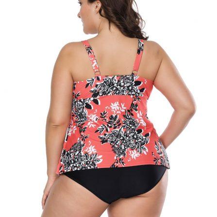 Floral Bowknot Two Piece Swimwear