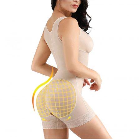 Full Body Seamless Shape-wear Hip Lifter Beige Back