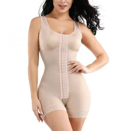 Full Body Seamless Shape-wear Hip Lifter Beige Front
