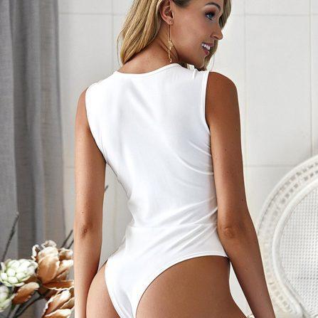 High Cut Legs Sleeveless Bodysuit