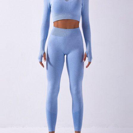 High Waist Long Sleeve Yoga Suit