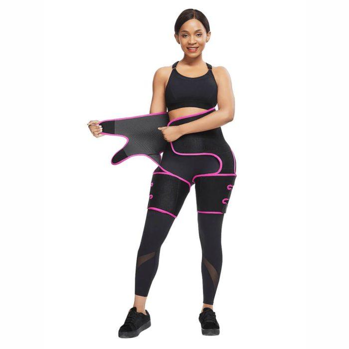 High Waist Neoprene Thigh Trimmer and Butt Lifter Pink